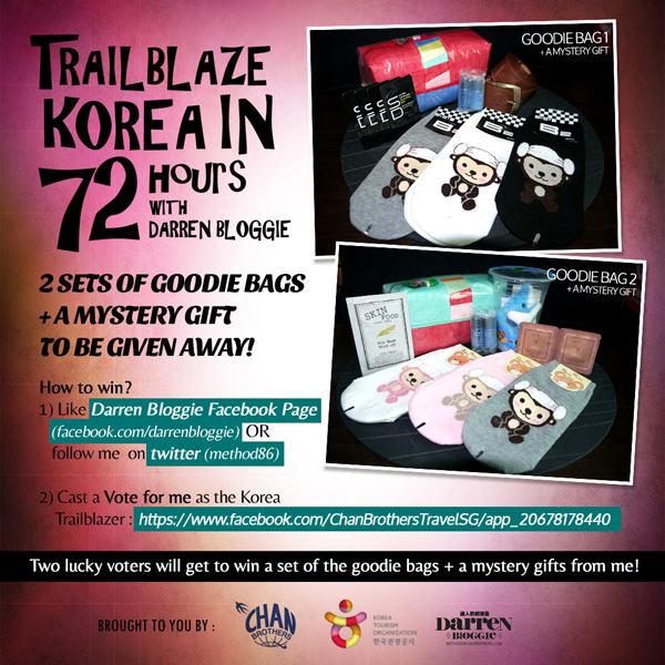 Vote For Me as the Korea Trailblazer & WIN Goodies Bags From KOREA!
