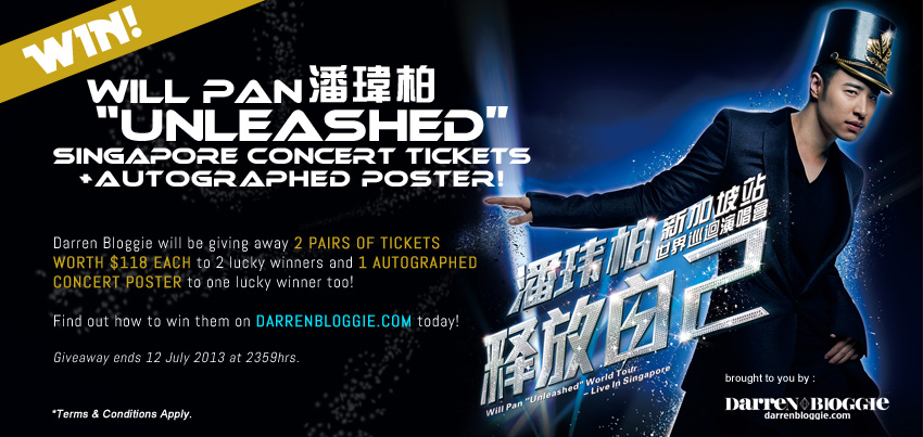 [Darren Bloggie Giveaway] Will Pan Unleashed World Tour Singapore Concert Press Conference + WIN Concert Tickets!