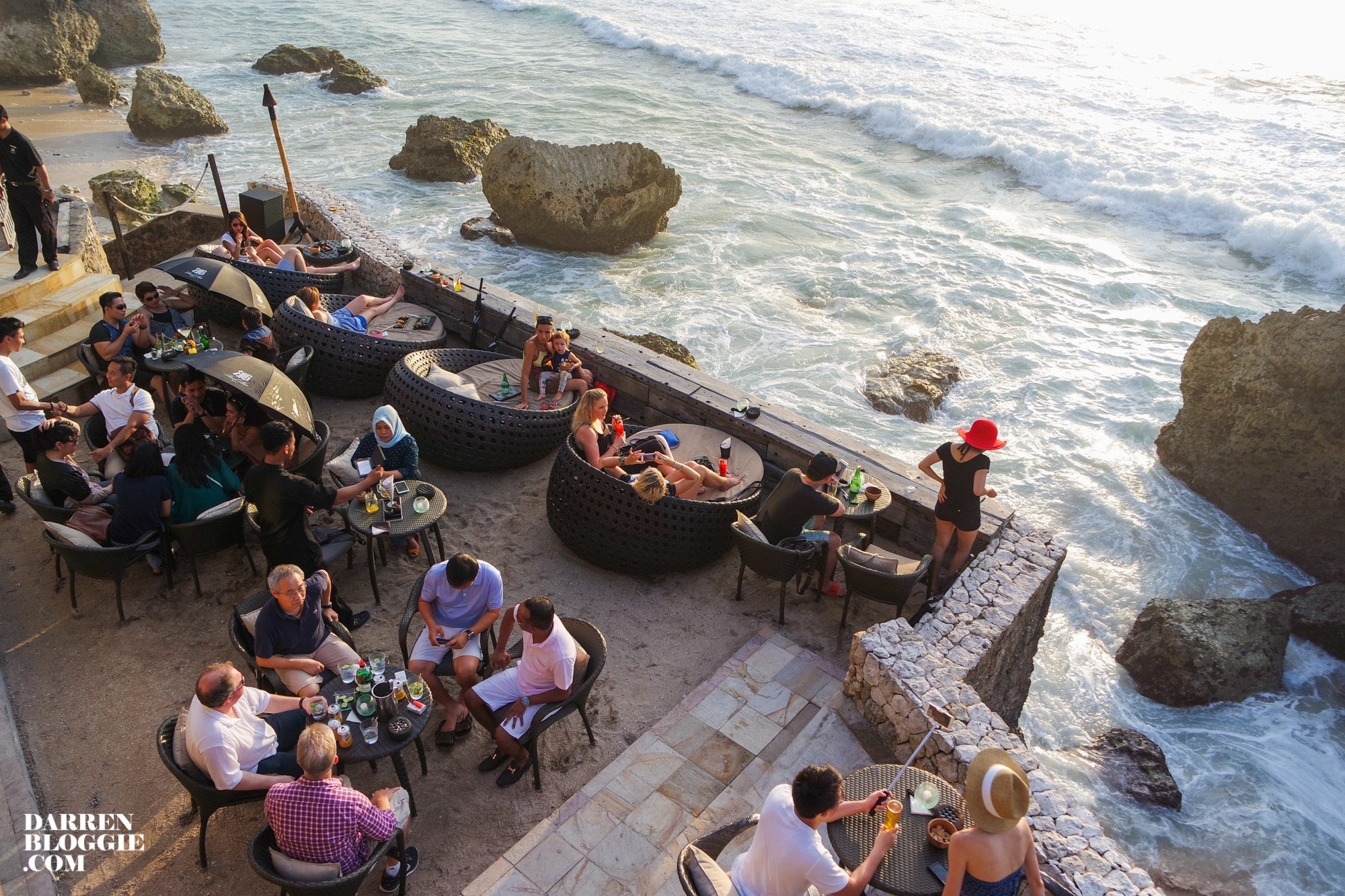 Catch the Beautiful Sunset at Rock Bar Bali