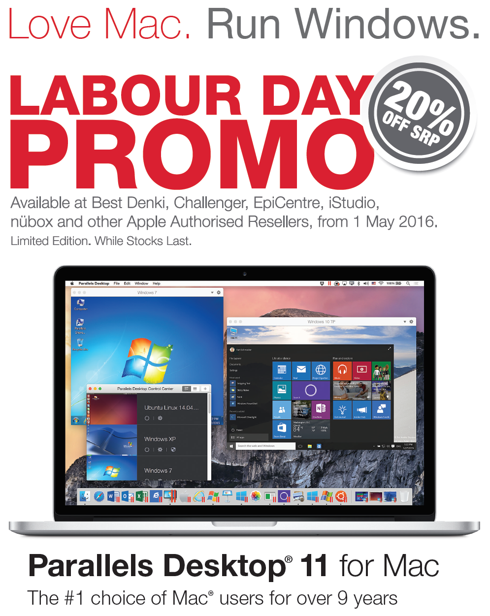 Parallels Labour Day 2016 Promo