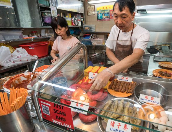 Experience Cashless Payment with DBS PAYLAH! at Hawker Centre