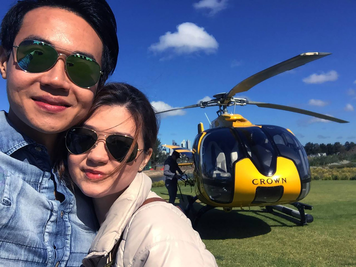 Helicopter ride to Rottnest Island