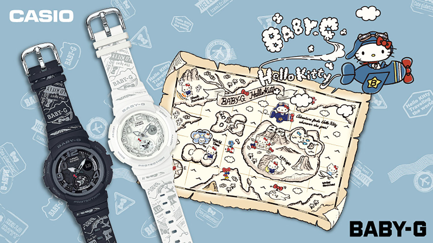 CASIO BABY-G Collaboration Model Featuring Globe-Trotting Hello Kitty