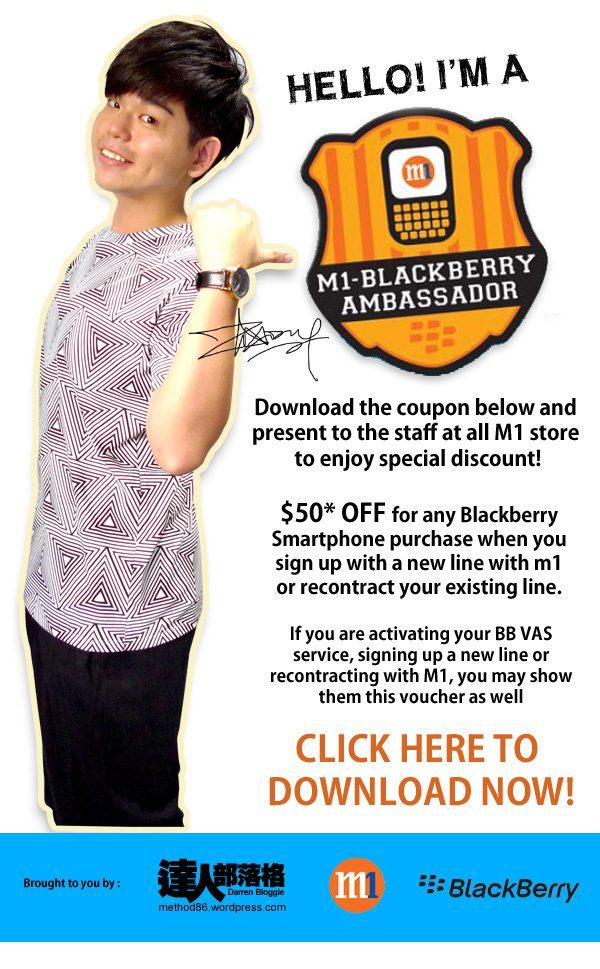 M1 blackberry ambassador special discount
