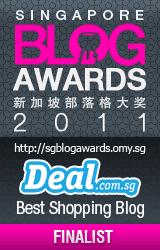 Finalist for Singapore Blog Awards 2011 DEAL.com.sg Best Shopping Blog