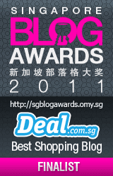Finalist for Singapore Blog Awards 2011 DEAL.com.sg Best Shopping Blog