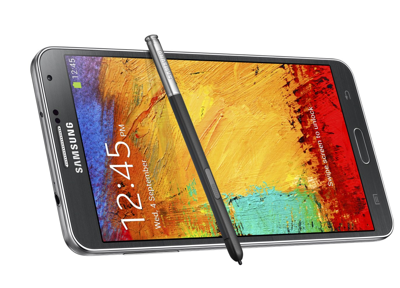 Galxy Note3_025_front dynamic with pen2_Jet Black