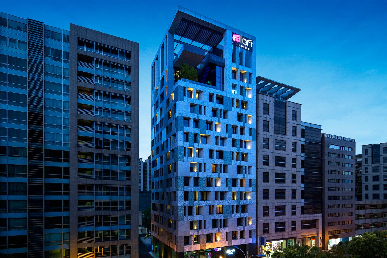 台北中山雅樂軒酒店_Hotel-Exterior-Night-View_外觀夜景