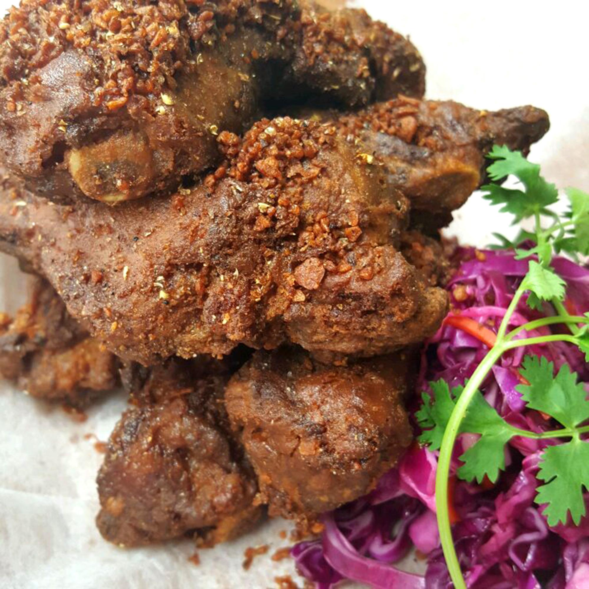 Deep Fried Ribs with Garlic & Sze Chuan Pepper ($18)