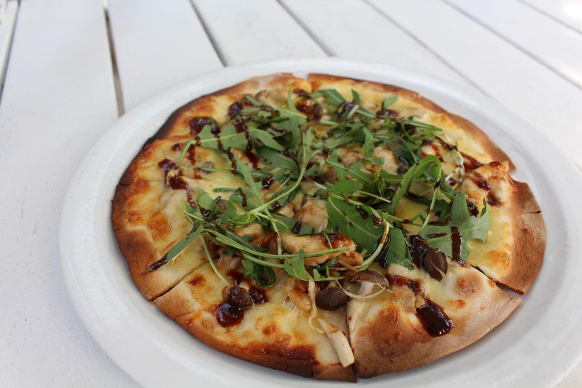 Duck & Arugula Pizza ($22)