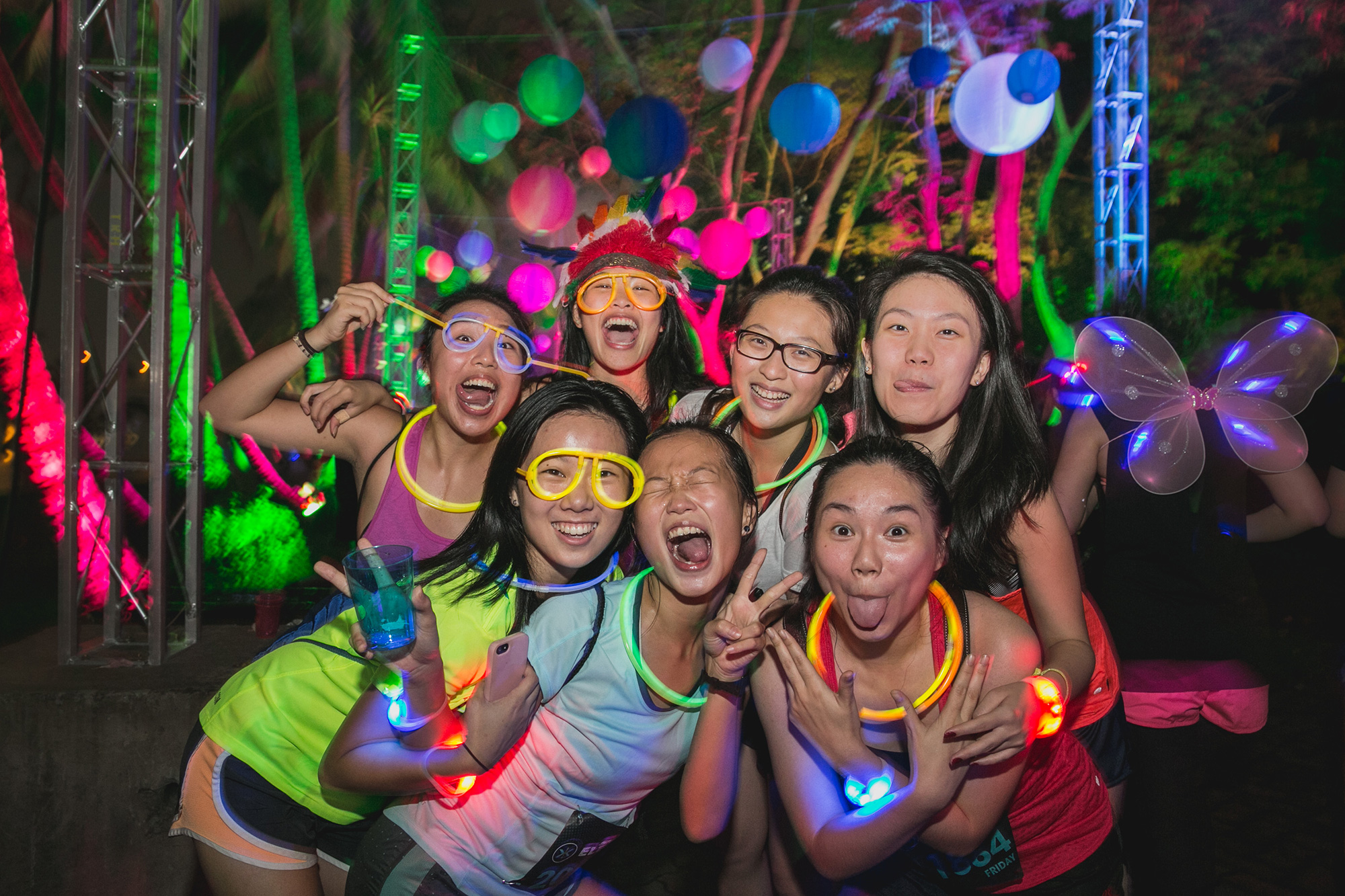 Electric Runners are decked out in their neon attire to enjoy the biggest 5k party in the world