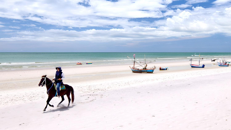 Hua-Hin-horse-on-beach