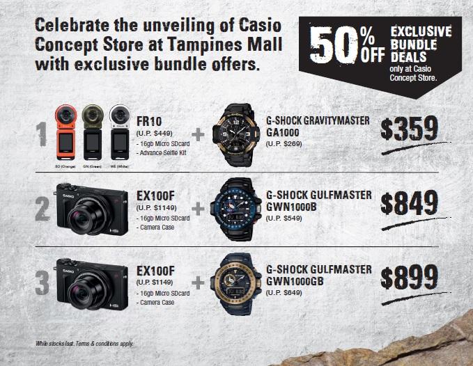 Casio Tampines Mall Bundle Promo