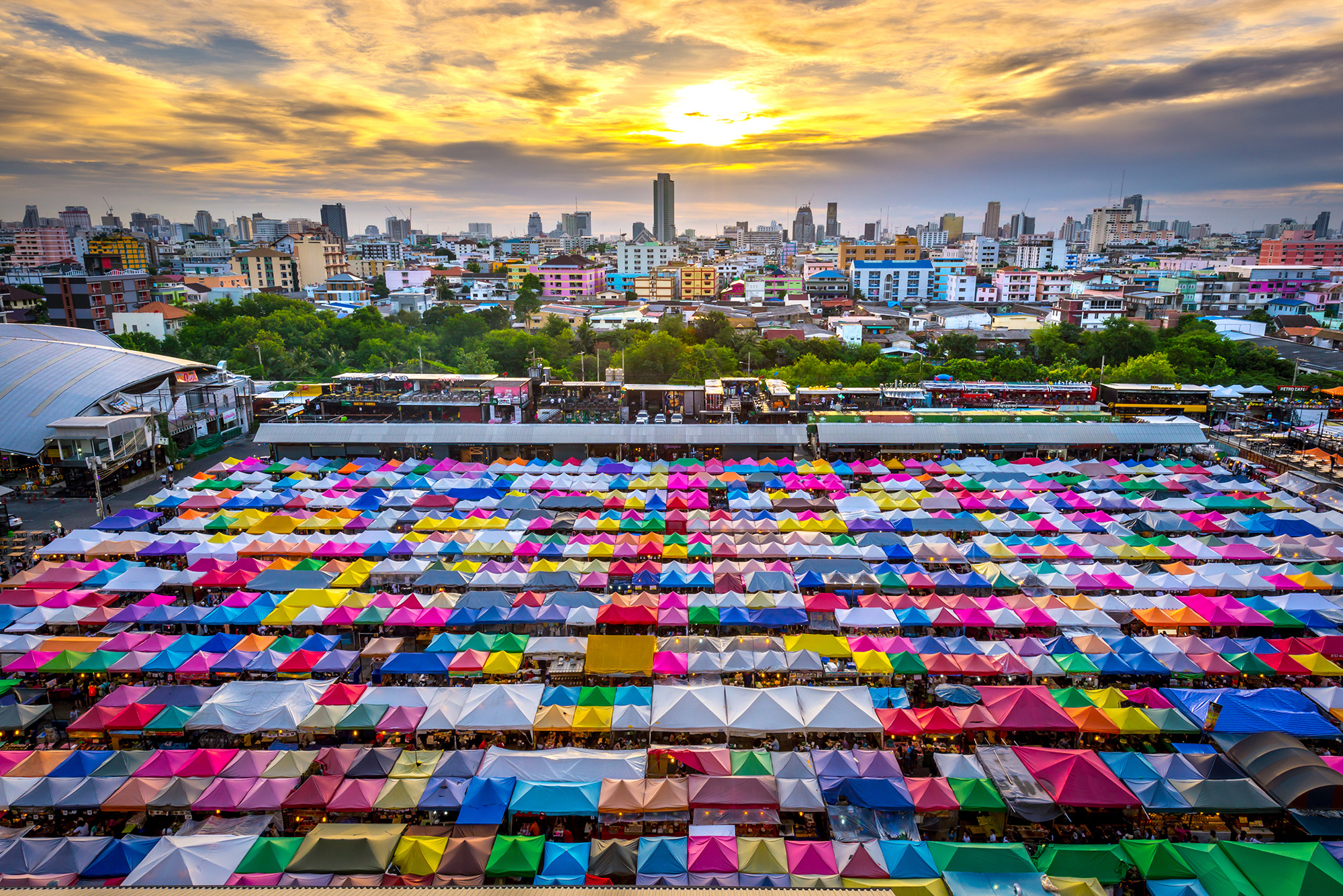 Ratchada Night Train Market, Bangkok, Thailand from Shutterstock