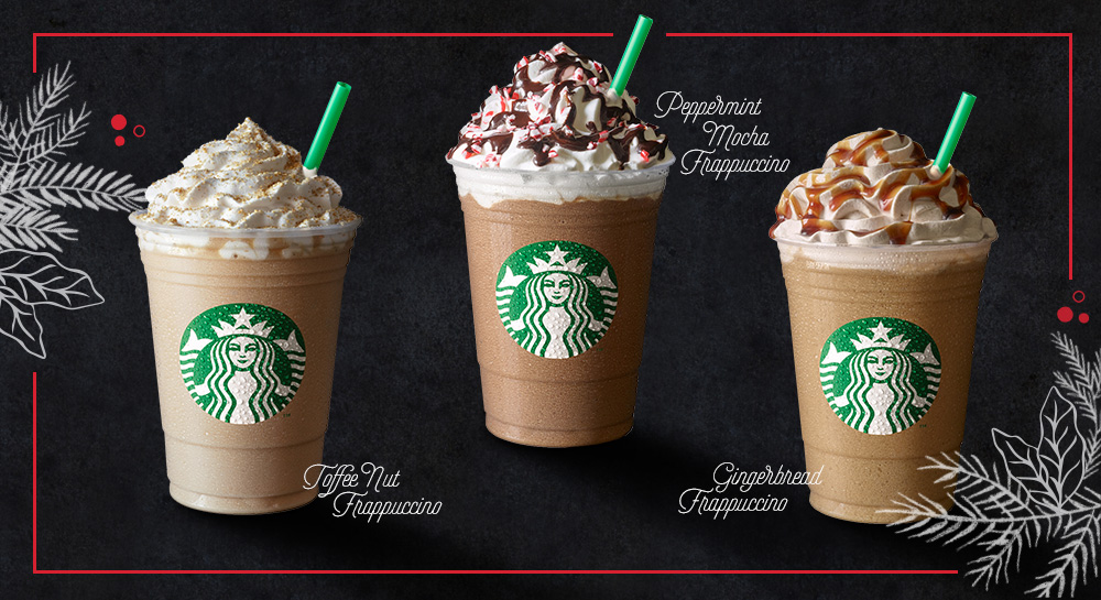 Starbucks Christmas Drinks.Starbucks Christmas Sip Of Cheers Crafted By Hand And