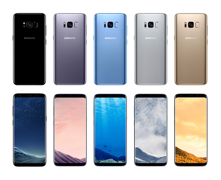 Samsung Galaxy S8 and 8+ in Coral Blue