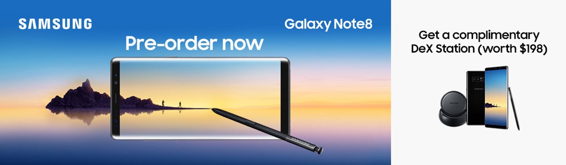 Samsung Galaxy Note8 Pre-order on Lazada.sg