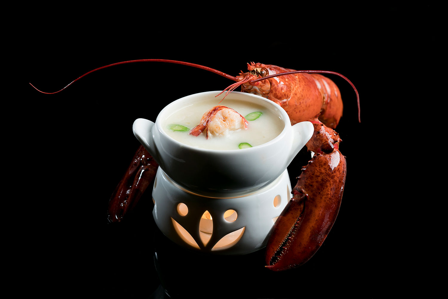 Double boiled MSC Maine Lobster and Organic ASC Prawn in Superior Fish Broth