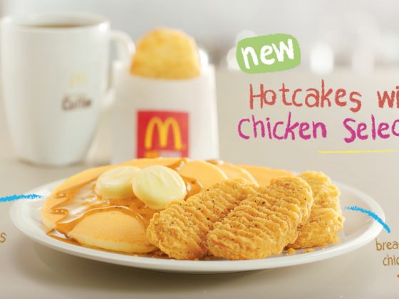 McDonald's Hotcakes with Chicken Selects