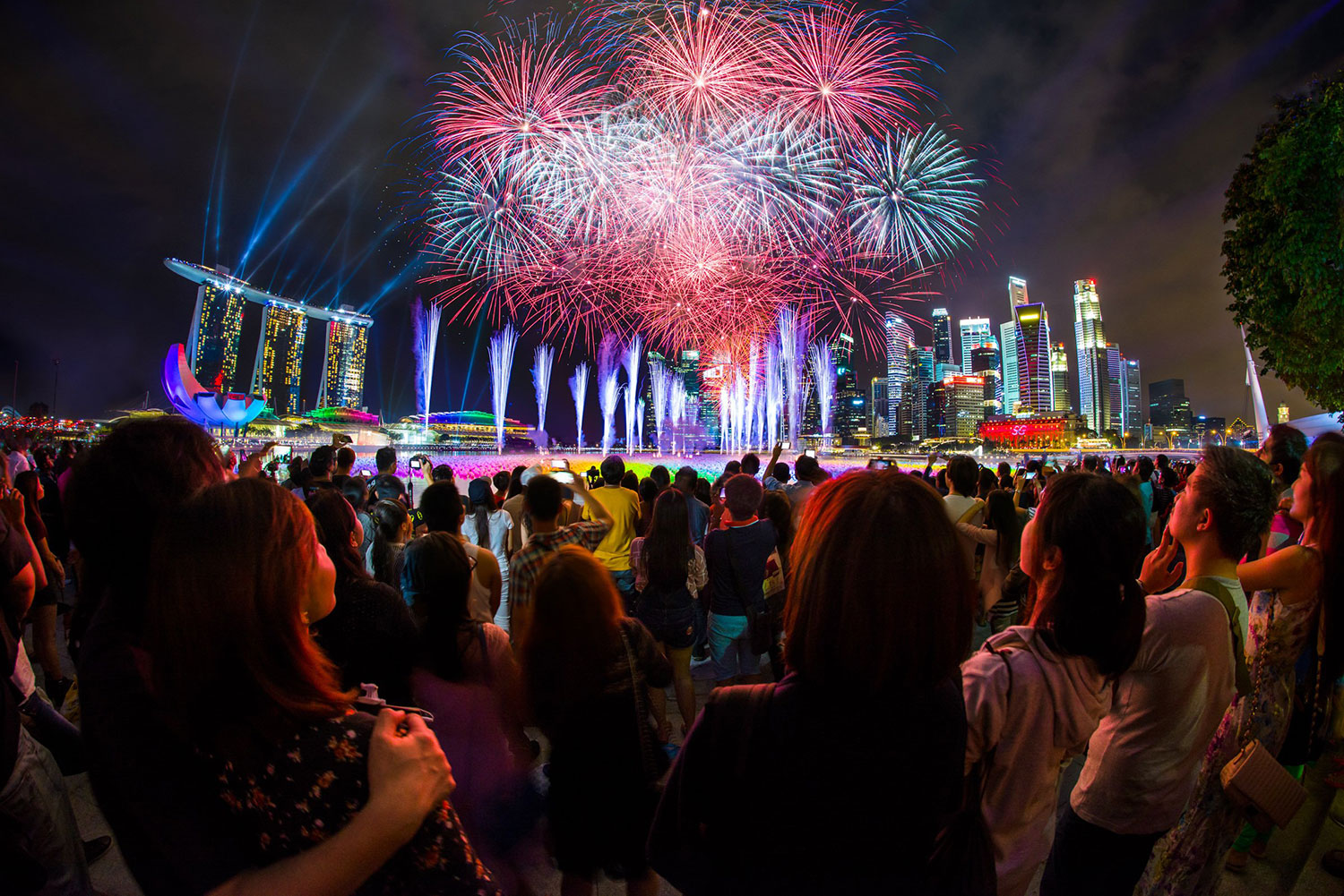 Marina Bay Countdown Singapore Fireworks