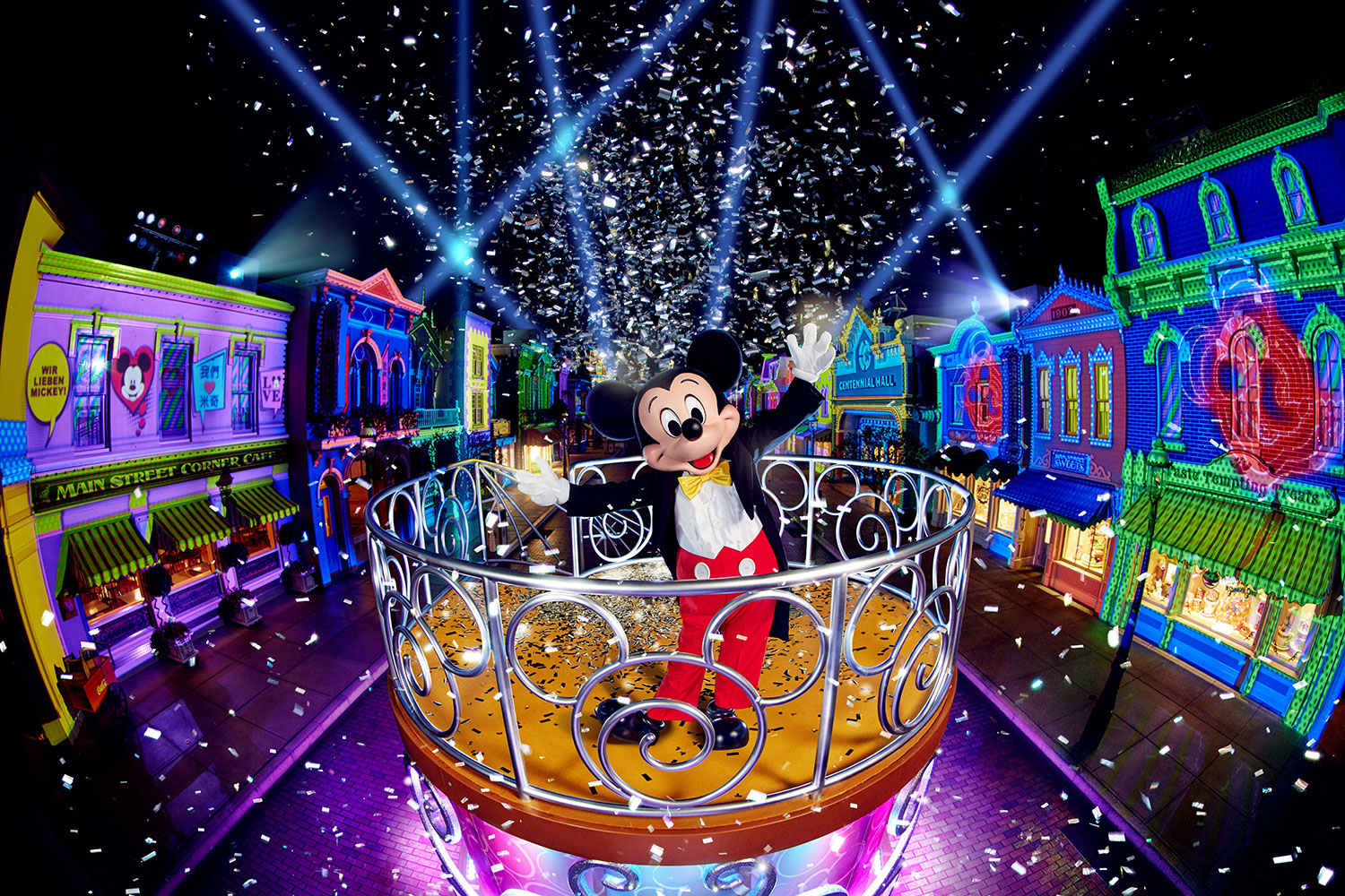 Hong Kong Disneyland Resort Launches First Of Its Kind Carnivale Voucher Hongkong Photo We Love Mickey Projection Show
