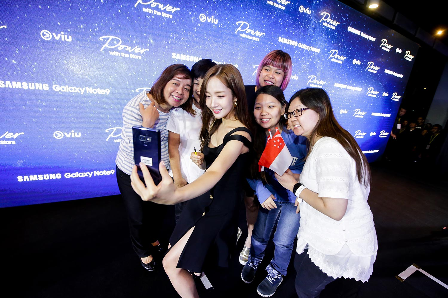 Samsung Celebrates the Launch of the Galaxy Note9 with Kim Jong Kook and Park Min Young at Gardens by the Bay