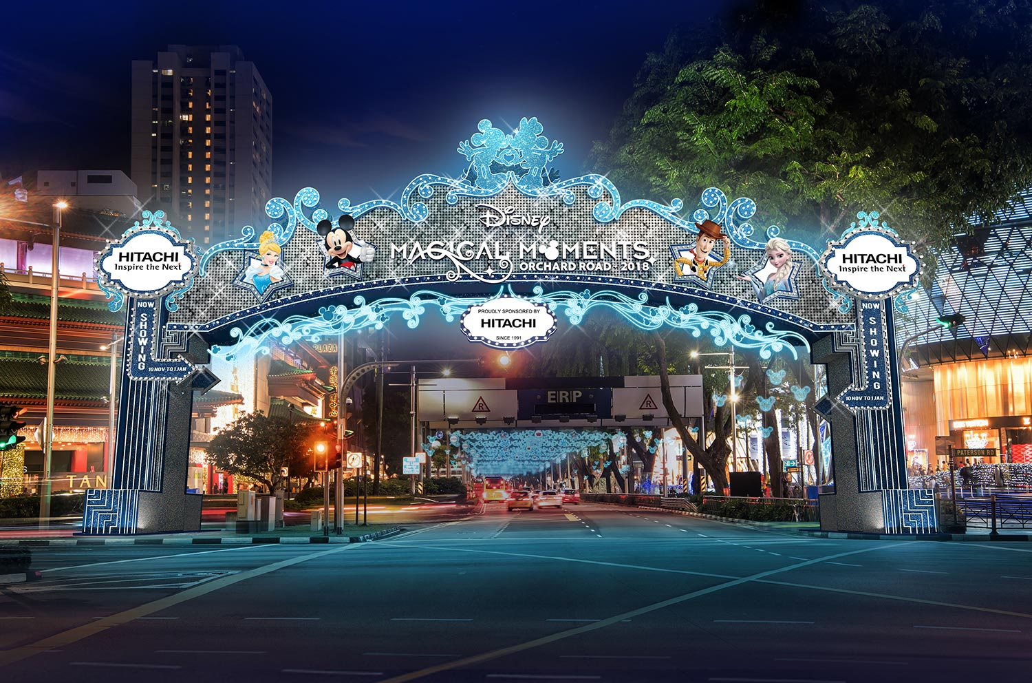 Enjoy Disney Magical Moments along Orchard Road this Christmas!
