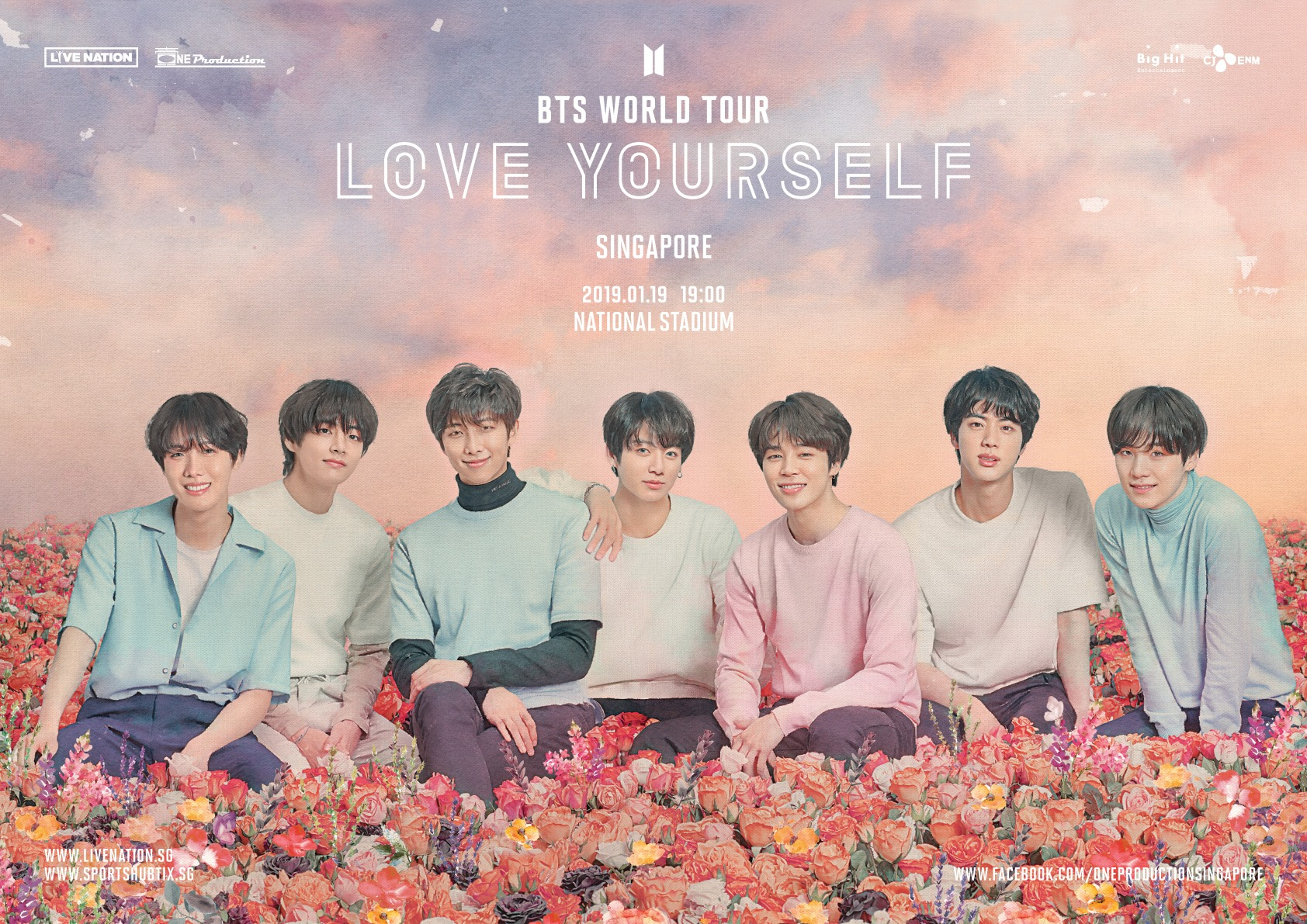 BTS to take Singapore by storm for their LOVE YOURSELF WORLD TOUR at National Stadium!