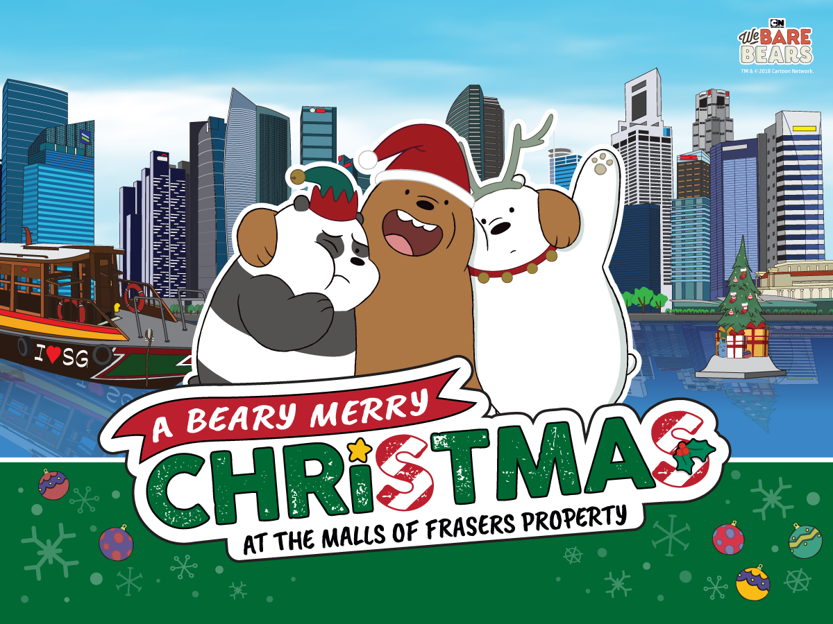 Celebrate Christmas at the malls of Frasers Property with We Bare Bears