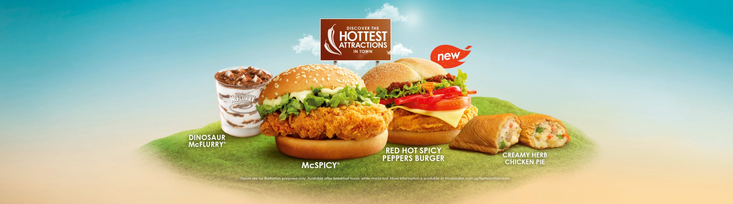 McDonald's Red Hot Spicy Peppers Burger