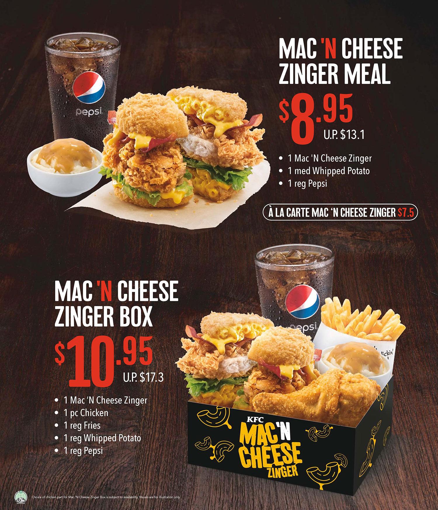 KFC Singapore newest creation – the KFC Mac 'N Cheese Zinger!