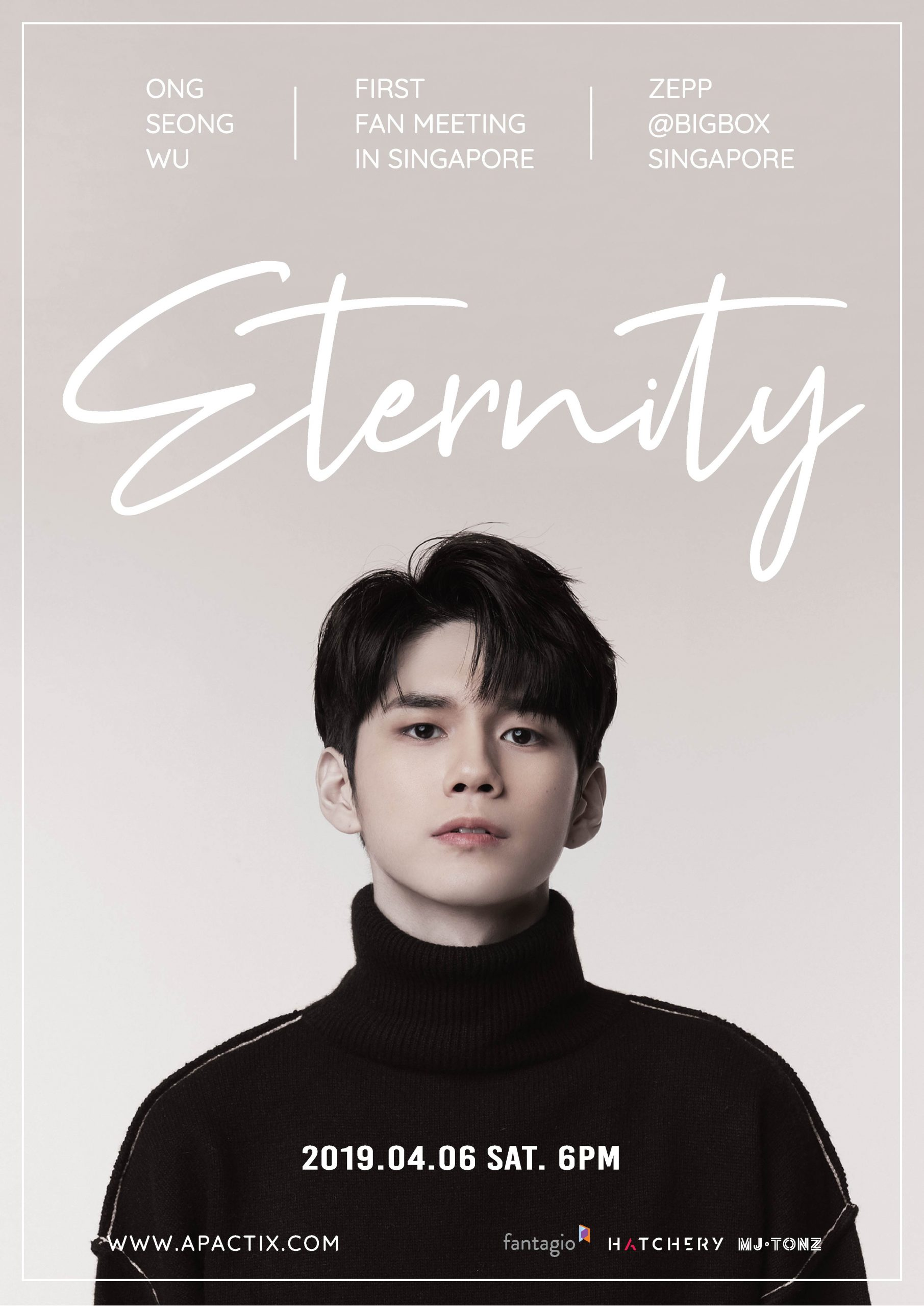 Tickets Going On Sale for Ong Seong-wu's Eternity 1st fan Meet and Greet in Singapore