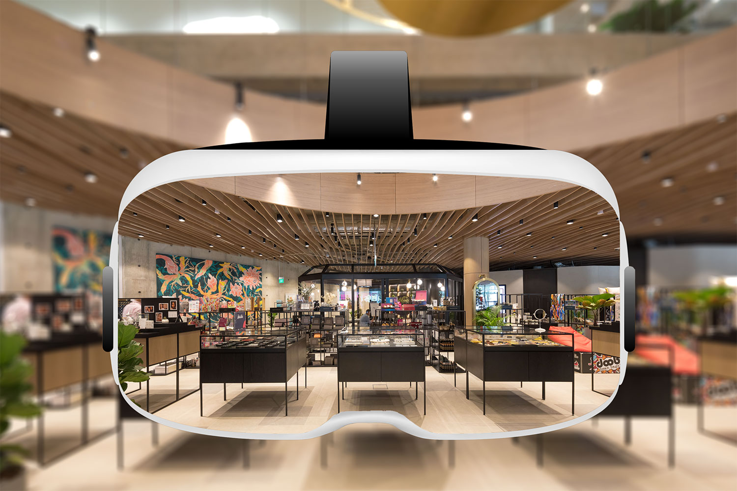Artist impression of Design Orchard's in-store virtual experience