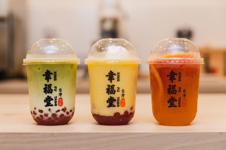 Matcha-Boba-Milk-Mango-Smoothie-and-Rabbit-Panna-Cotta-Grapefruit-Green-Tea