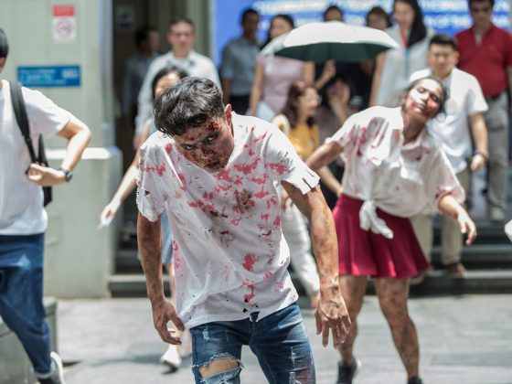 Zombies-at-Raffles-Place