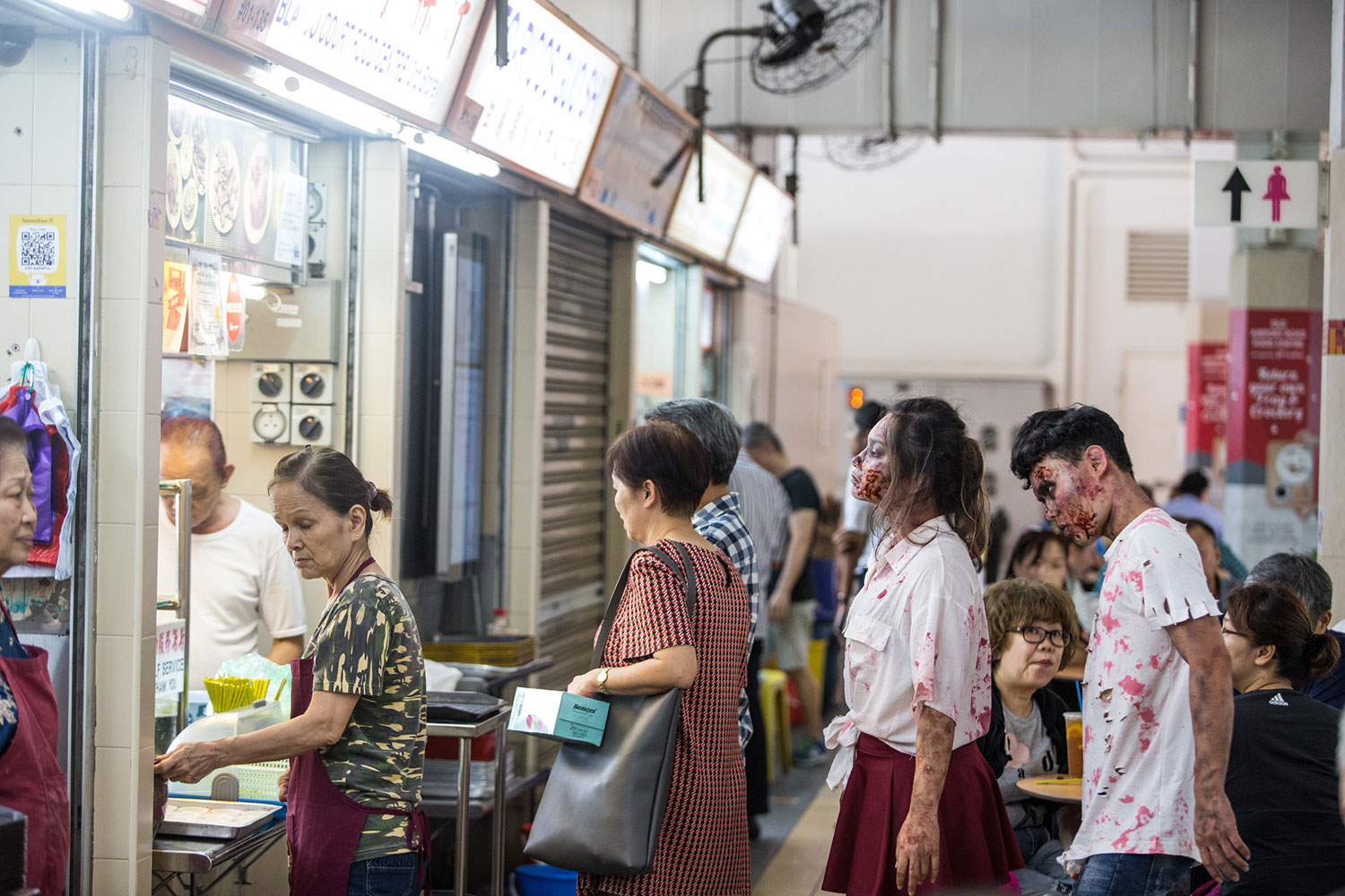 Zombies-queueing-for-food-at-Old-Airport-Road-Food-Centre
