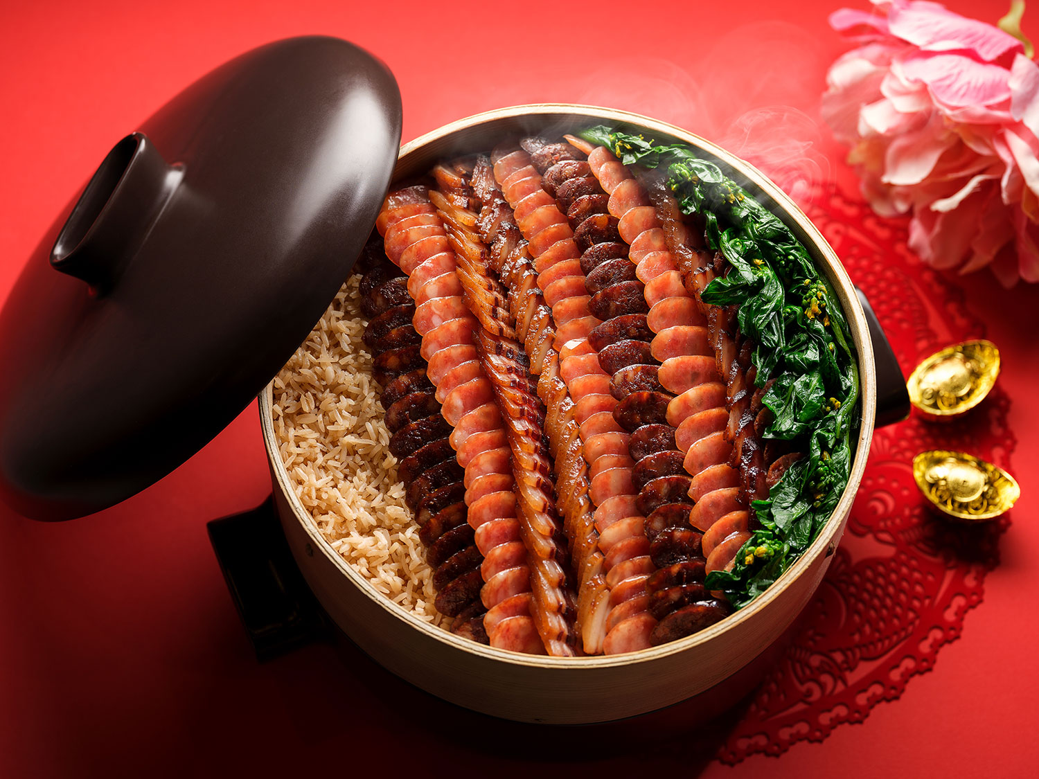 Fragrant-Rice-With-Selection-Of-Premium-Waxed-Meats-And-Chinese-Sausage