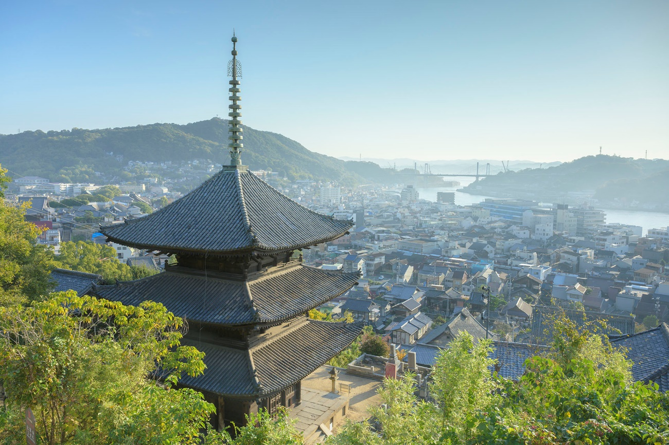 View from Senkoji Temple_Townscape around Onomichi Channel / PHOTO -Agency for Cultural Affairs