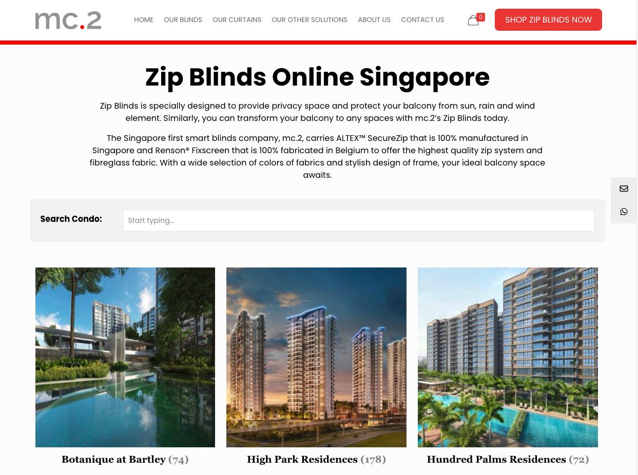 Singapore's First 100% Digitalized e-Commerce Platform for ALTEXTM SecureZip Balcony Blinds