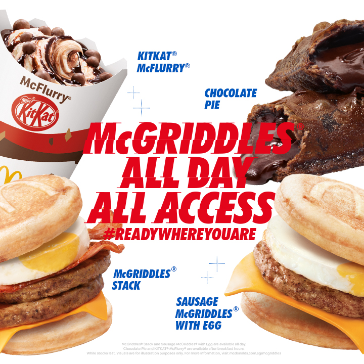 The Iconic McGriddles® Returns to McDonald's ALL-DAY from 4 March